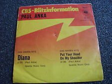 Paul Anka-Diana 7 PS-CBS Blitzinformation-Made in Germany