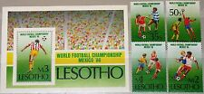 LESOTHO 1986 565-68 Block 31 521-525 Soccer World Cup Mexico Fußball WM MNH