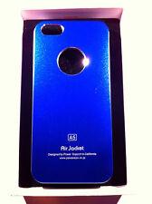 custodia rigida per Apple iPhone 5 5s colore blu metallizzato in alluminio new