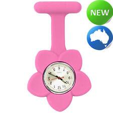 Silicone Frangipani Flower FOB Watch - Rose Pink