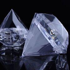 Contenant à dragées diamant  mariage baptême coffret cadeaux bijoux lot 10pcs.