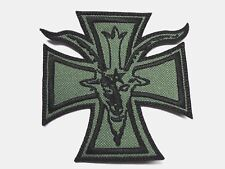 goat iron cross    BLACK   EMBROIDERED PATCH