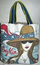 Brighton Canvas Chic Ahoy Star Light Extra Large XL Tote Travel Bag Shopper