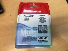 2er Set original Canon Druckerpatronen CL-511 PG-510 Color Black Tinte Rechnung