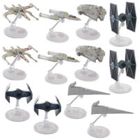 Set Of 12 Hot Wheels Disney 40th Anniversary Star Wars Starships Display Stands