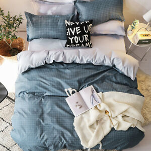 Checked Duvet/Doona/Quilt Cover Set - Queen/King/Super King Size Bed New M393