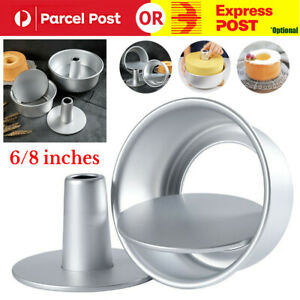 """6/8"""" Hollow Chiffon Cake Mold Food Round Cake Pan Baking Mould Removable Bottom"""