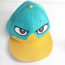 Disney Perry Phineas and Ferb Baseball Snapback Hat, Cap Blue Green  OSFA