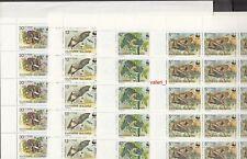 1989 Bulgaria WWF  Bats Night Animals Set of 4 stamps on sheet x 50 MNH**  RRRR