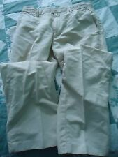 Men's size 30X30 Banana Republic Linen Blend Tan Pants Slacks