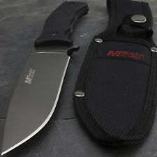 "10"" MTECH USA TITANIUM SURVIVAL HUNTING FIXED BLADE KNIFE w/ NYLON FIBER HANDLE"