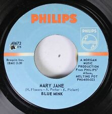 Rock Nm! 45 Blue Mink - Mary Jane / Can You Feel It Baby On Philips
