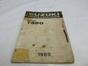 1969   OEM Suzuki T350 REBEL Parts Catalogue List Manual OEM Factory