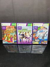 Lot of 3 Xbox 360 Games Kinect Sports, Kinect Adventures, & Game Party In Motion