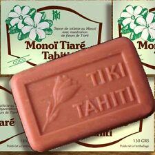 Confezione doppia MONOI Tiki Tahiti Savon Coco 2x130g olio vegetale-Sapone di cocco Profumo
