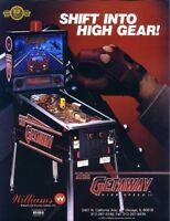 The Getaway High Speed II Pinball FLYER Original NOS 1992 Williams Game Artwork