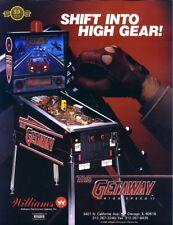 Williams The GETAWAY High Speed II Original NOS 1992 Pinball Machine Sales Flyer