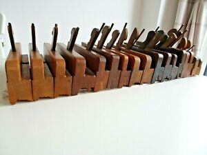 17 Vintage Wooden Moulding Planes Moseley Cannadine McKenzie Tremain Onions