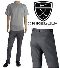 NIKE GOLF PERFORMANCE TECH Flat Front PANTS/POLO SHIRT Men's XL (38x32) NEW+TAGS