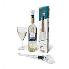 CellarDine Chill Core 3 in 1 Wine Cooler Pour Pourer Server Bottle Stopper