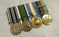 "NZ OSM ,EAST TIMOR MEDAL,UNAMET & DEFENCE MEDAL""REGULAR""-  F/S MOUNTED REPLICA"