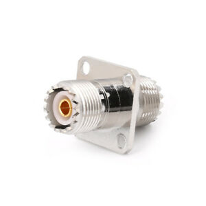 UHF SO239 Female To Female &Panel Mount RF Connector Coaxial Converter