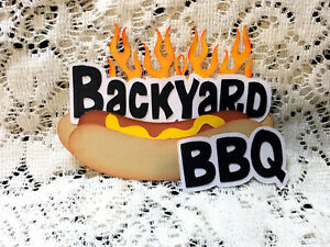 Backyard  BBQ Title paper piecing Premade Scrapbook Pages