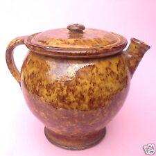 Barock Hafner Keramik Kaffeekanne Teekanne handgetöpfert Volkskunst Thurnau~1860