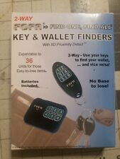 2-Way Rf Fofa® Find One Find All® Key Finder and Flat Wallet, Cell Phone Locator