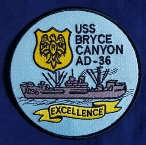 AD-36 USS Bryce Canyon Excellence NAVY Ship Military Patch