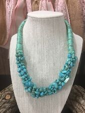 L NWT Turquoise Adventuring Necklace Fold over Clasp