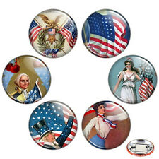 "Fourth of July 1.25"" Pinback Button BADGE SET Pins Independence Day Gift 32 mm"