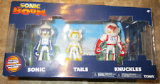 "SONIC BOOM METALLIC SPACE SUIT SONIC TAILS KNUCKLES 3 PACK FIGURE SET 3"" ODYSSEY"
