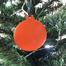 orange boule en forme de décorations ARBRE DE NOËL, & vert ruban, Paquet 10
