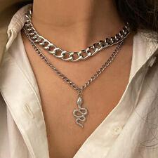Bohemia Fashion Multilayer Choker Necklace Snake Chain Gold Women Summer Jewelry