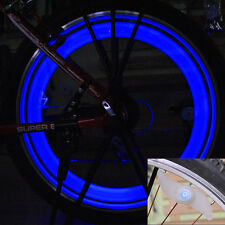 6xMulti Color BlueLED Cycling Bike Wheel Valve Wire Tyre Bright Light Spoke Lamp
