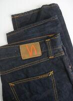 RRP €202 NUDIE SHARP BENGT RECYCLE DARK WORN Men's W38/L34 Tapered Jeans 4631*mm