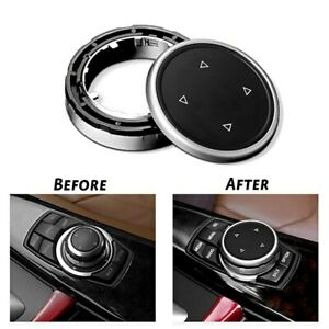 Car Black Big Multi Media Knob Cover Trim Button For BMWs F10 F20 F30 BR
