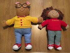 Marc Brown Talking Arthur And Francine Stuffed Plush PBS TV