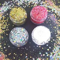 Chunky & Fine Glitter Pot-Nail Face Eye Body Tattoo Festival Dance Club Cosmetic