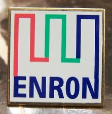 White 2000 ENRON Lapel Pin / Tie Tack - Own a piece of history