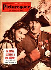 Danny Kaye & Barbara Bates Cover, Vintage  Picturegoer Magazine, Sept 1950