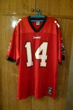 Tampa Bay Buccaneers Reebok NFL Jersey #14 Brad Johnson Football Red Men Size XL
