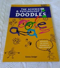 THE SCIENCE OF PSYCHOLOGY DOODLES, BY EMMA STEIGER, LIKE NEW, FREE SHIPPING