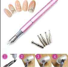 Gel Design Painting Pen Nail Art Brush Set for Salon Manicure DIY Tool 5 Nibs