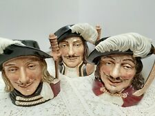 New ListingRare Three Musketeers, Royal Doulton Limited Toby jugs , mugs 1955 England