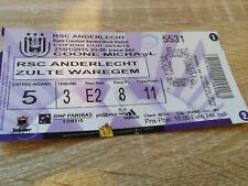Ticket Anderlecht Zulte Waregem Coupe de Belgique 2015