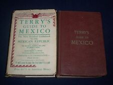 1947 TERRY'S GUIDE TO MEXICO BOOK LOT OF 2 - GREAT COLOR MAPS - ADS - KD 975B
