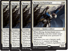 4x Daring Archaeologist -NM- Dominaria MTG White Rare