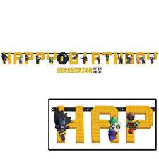 LEGO THE BATMAN Add an Age Happy Birthday Jumbo Letter Banner Kit